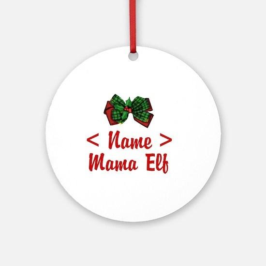 Personalized Mama Elf Ornament (Round)