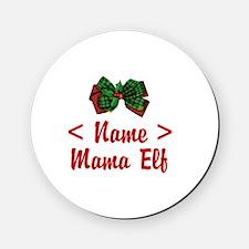Personalized Mama Elf Cork Coaster
