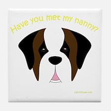 MeetMyNannySaint Tile Coaster