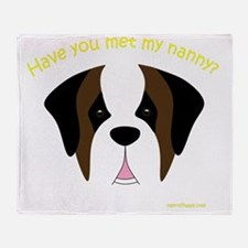 MeetMyNannySaint Throw Blanket