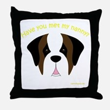 MeetMyNannySaint Throw Pillow