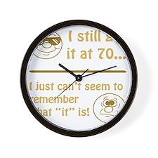 BdayAmnesia70 Wall Clock