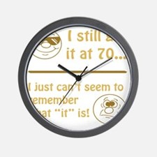 BdayAmnesia70 Wall Clock