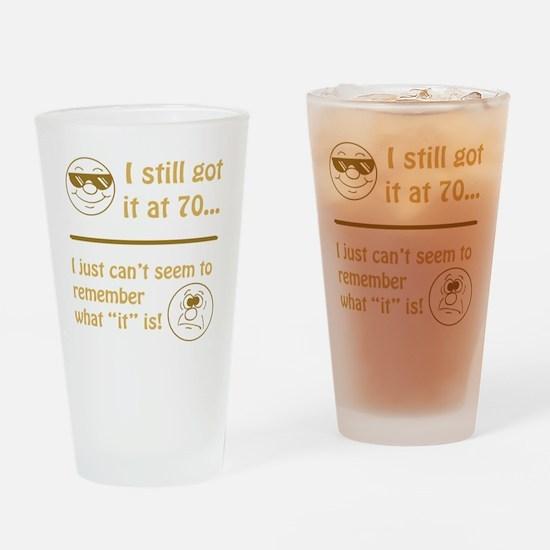 BdayAmnesia70 Drinking Glass
