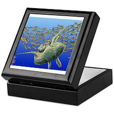 Sea Turtle & Fish Keepsake Box
