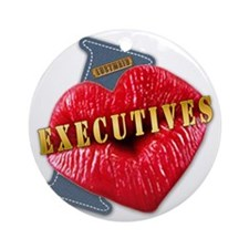 EXECUTIVES---I-LOVE Round Ornament