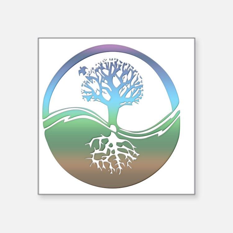 """treenearth Square Sticker 3"""" x 3"""""""