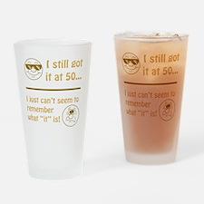 BdayAmnesia50 Drinking Glass