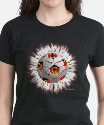German Soccer Flagball Women's Dark T-Shirt