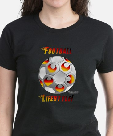 German Soccer Lifestyle Women's Dark T-Shirt