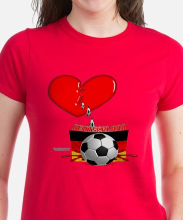Bleed Football Women's Dark T-Shirt