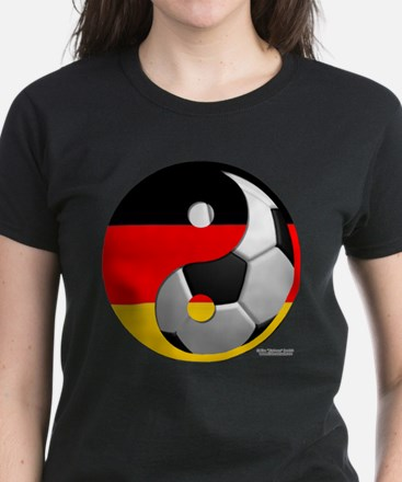 Yin Yang German Women's Dark T-Shirt