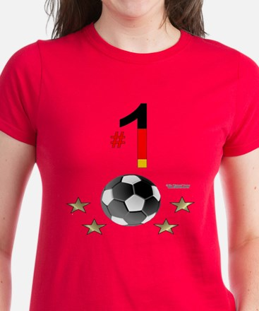 No. 1 Football Women's Dark T-Shirt