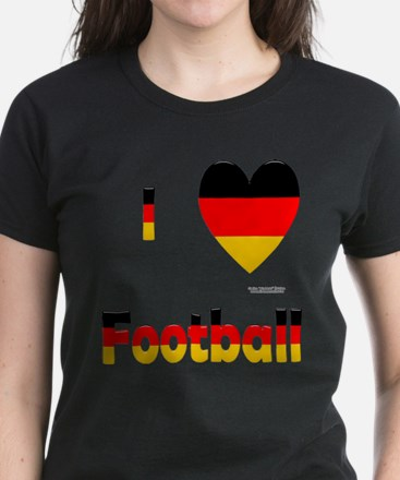 German Football Women's Dark T-Shirt