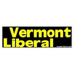 Vermont Liberal Bumper Sticker