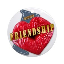 FRIENDSHIP---I-LOVE Round Ornament