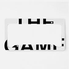 The Game black License Plate Holder