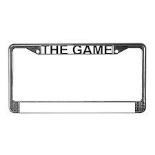 The Game2 black License Plate Frame