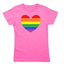 Rainbow Heart Girl's Tee