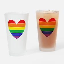 Rainbow Heart Drinking Glass