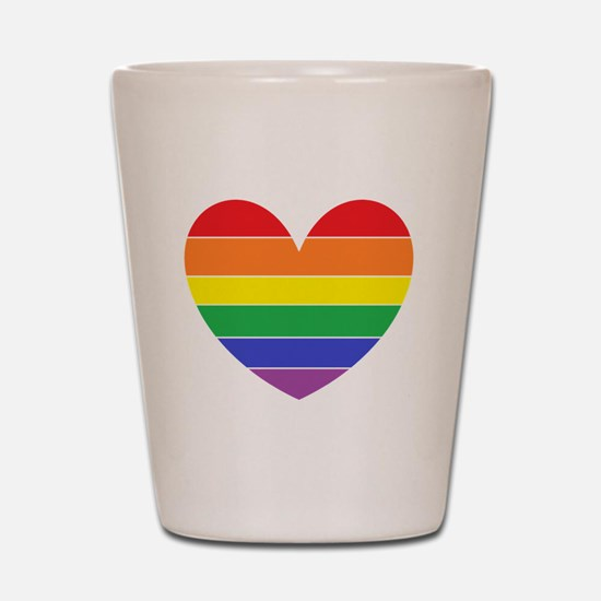 Rainbow Heart Shot Glass