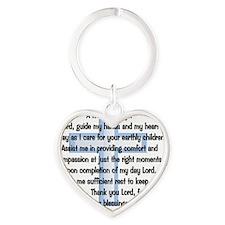 a nurses prayer blue Heart Keychain