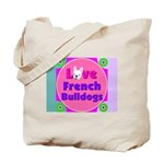 Love French BulldogsTote Bag