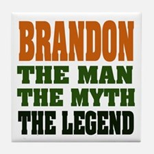 BRANDON - the legend Tile Coaster