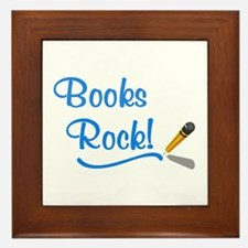 Books Rock Framed Tile