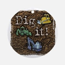 DigIt Round Ornament