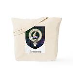 Armstrong Clan Crest Tartan Tote Bag