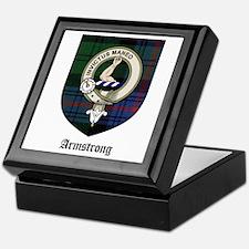 Armstrong Clan Crest Tartan Keepsake Box