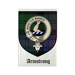 Armstrong Clan Crest Tartan Rectangle Magnet (10 p
