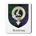 Armstrong Clan Crest Tartan Mousepad