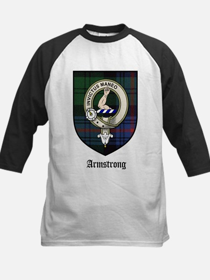 Armstrong Clan Crest Tartan Kids Baseball Jersey