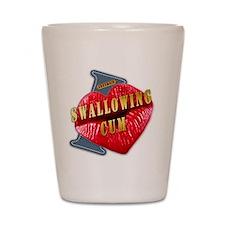 SWALLOWINGSUM---I-LOVE Shot Glass
