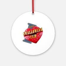 SWALLOWINGSUM---I-LOVE Round Ornament