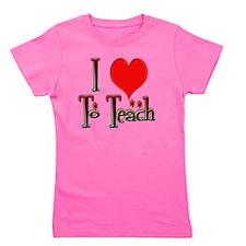 Love To Teach copy Girl's Tee