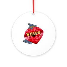 WHIPS---I-LOVE Round Ornament