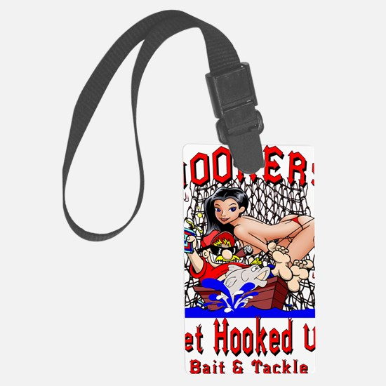 Hookers Bait  Tackle Luggage Tag