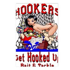 Hookers Bait  Tackle Postcards (Package of 8)