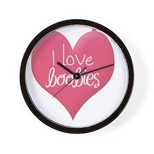 I love boobies Wall Clock