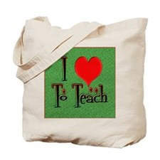 Love To Teach background Tote Bag