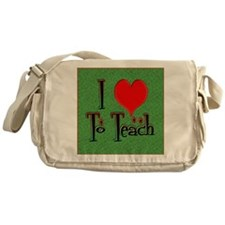 Love To Teach background Messenger Bag