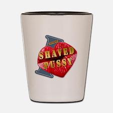 SHAVEDPUSSY---I-LOVE Shot Glass