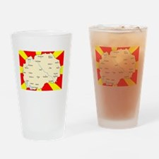 white imported from macedonia Drinking Glass