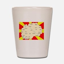 white imported from macedonia Shot Glass