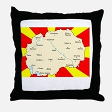 white imported from macedonia Throw Pillow