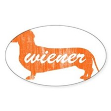 wiener_tail_word_washed Decal