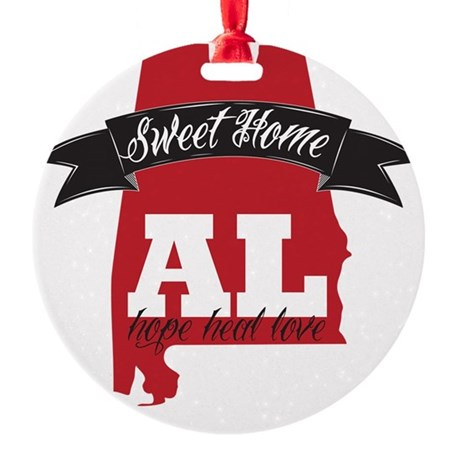 Sweet Home Round Ornament
